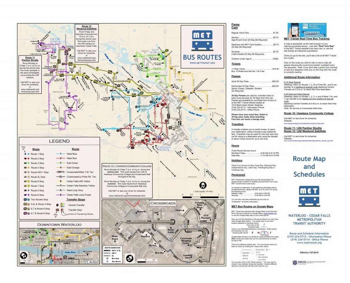 Routes   Metropolitan Transit Authority (MET)